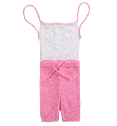 einteilige Spitze Kostüm Foto Fotografie Prop Outfits Klettern Kleidung (rosa) (Am Besten Neugeborenen-halloween-kostüme)