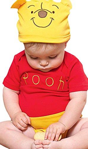 - Baby Karneval Kostüm Winnie Pooh, Mehrfarbig, Größe 50-62, 1-3 Monate (Niedlich, Einfach, Gruppe Halloween-kostüme)