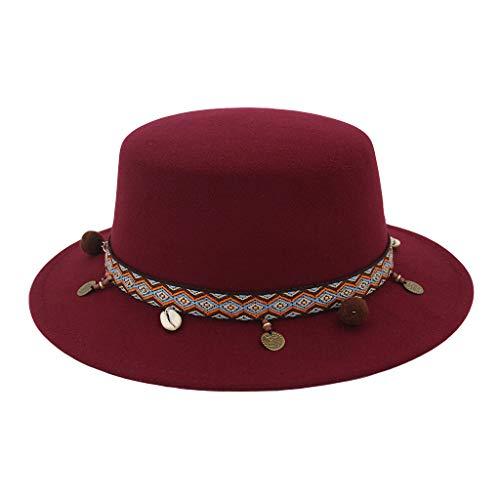 Deelin cintura a tesa sentivo piatto superiore cappello donne fedora festa chiesa capello floscio cappellino cappelli