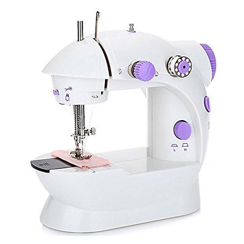 Mini Nähmaschine Tragbare Nähmaschine 12 Nähprogrammen Elektrische Haushalt Nähmaschine Nähmaschine Klein Tragbar Nähen Für Anfänger Regelbarer Nähgeschwindigkeit Mit Umfangreichem Zubehör Violett