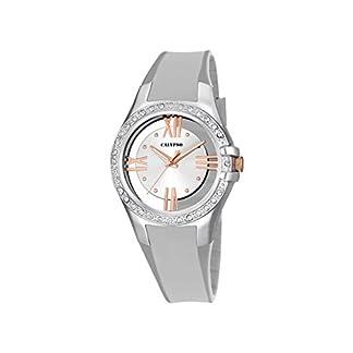 Calypso –Reloj de Cuarzo para Mujer con Esfera analógica de Plata y Pulsera de plástico Color Plateado K5680/1