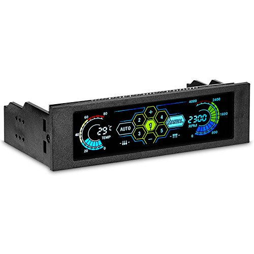 DyNamic STW 5,25 Zoll LCD Frontpanel-CPU Cooling Fan Speed Controller Temperature Monitor PC Drive Bay -