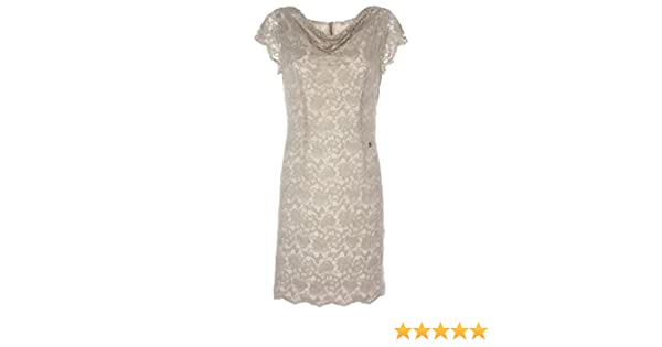 3f3eb229134c Nero Giardini Vestito Pizzo Donna Beige 42 Taglia europea : 42: Amazon.it:  Abbigliamento