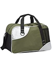 Double Take Gym Sport Travel Duffel Bag- Olive