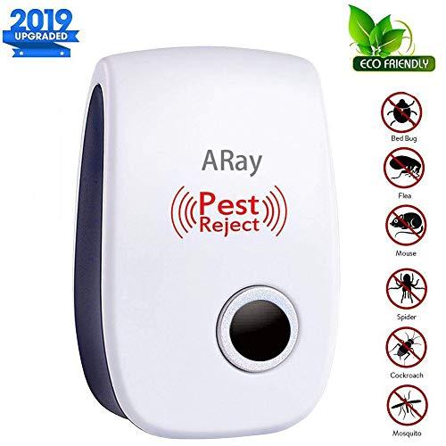 ARay Ultraschall Schädlingsbekämpfer 100% Sicher für Menschen und Haustiere, Multi-Functional Ultrasound Moskitoschutz für Kakerlaken, Bettwanze, Moskitos, Flöhe, Mäuse