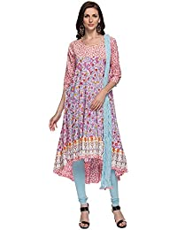 STOP To Start By Shoppers Stop Womens Round Neck Printed Churidar Suit