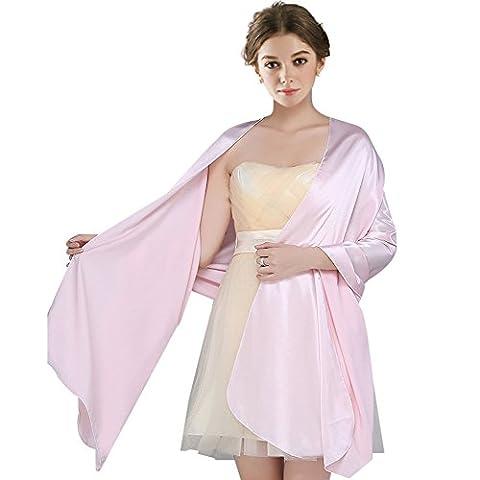 FIODAY Damenschal Silky Satin Stola Schal für Kleider Abendkleid (Große