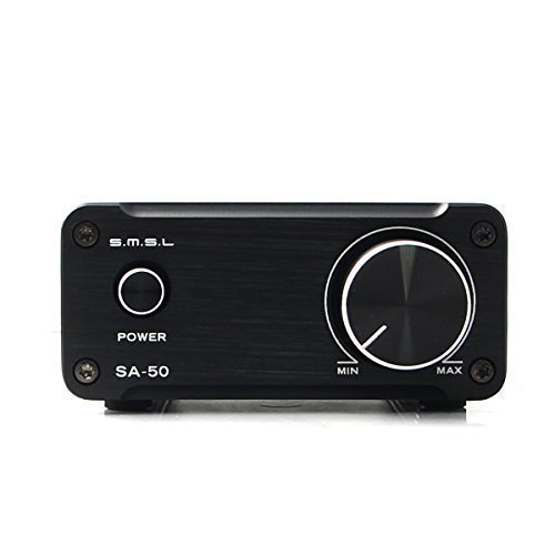 SMSL SA-50 2x50W Hi-Fi Stereo Verstärker Amplifier(Schwarz)