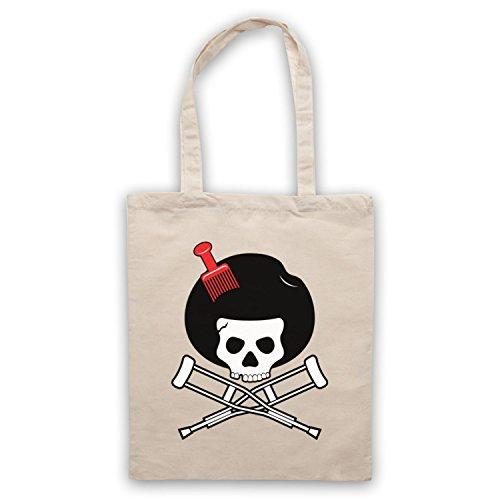 Inspiriert durch Jackass Skull & Crossbones Logo Afro Pick Inoffiziell Umhangetaschen Naturlich