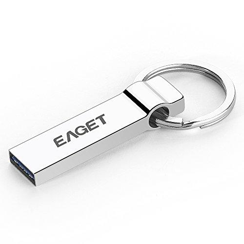 EAGET Chiavette USB 3.0 16GB Pendrive USB Alta Velocità Flash Drive Metallo con Portachiavi U90
