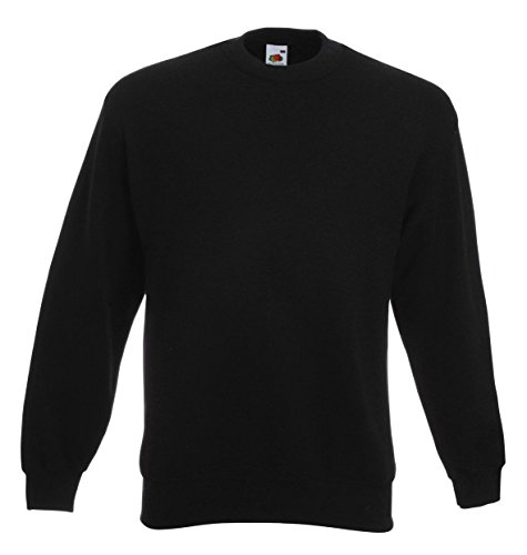 Fruit Of The Loom Belcoro® Garn Pullover (M) (Schwarz) M,Schwarz