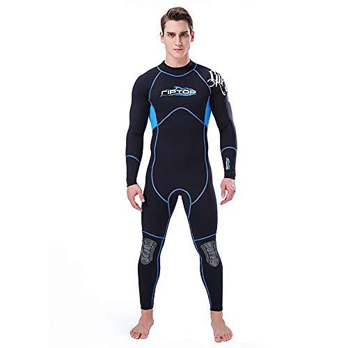 Y&SJ Neoprenanzug für Herren, 3 mm Neoprenanzug Einteiliger Surfanzug für Herren (Größe S bis XXXL) Sonnenschutz/superelastisch/warm Schwimm-Neoprenanzüge,XXL