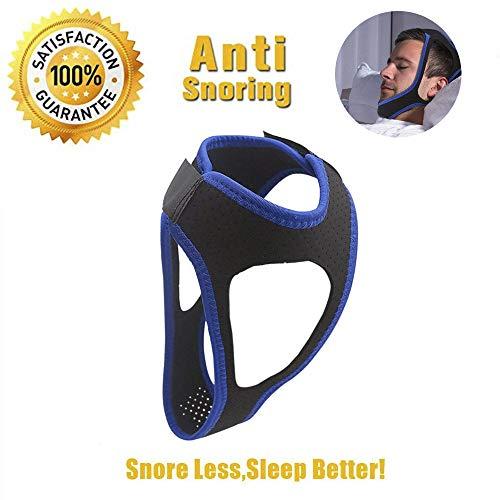 Asoon Stop Schnarchen Kinnriemen bequem und verstellbar Schnarchen Relief non-odour Stoff SNORE STOPPER für Männer oder Frauen