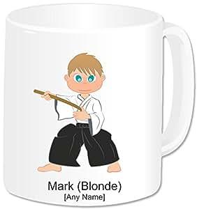 Mug personnalisé pour Arts martiaux-Aikido GoPersonalised garçon (-)
