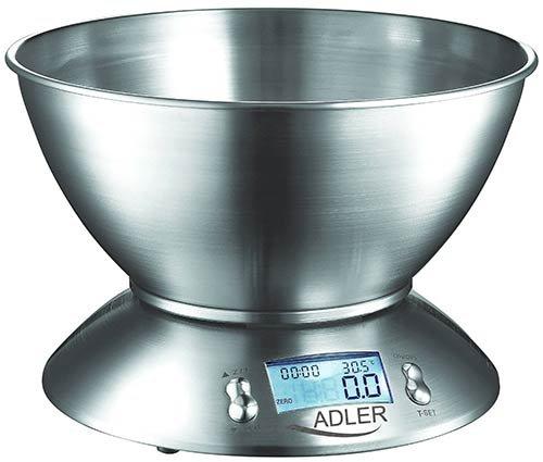 Adler Ad 3134 Digitale Kchenwaage Mit Edelstahl Schssel