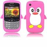 Pingouin Silicone Shell Housse Coque Étui Case Cover Pour Blackberry 8520 et 9300 Curve 3 g-Rose