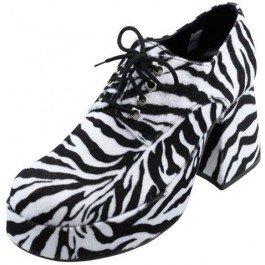 Bristol Novelty ba132s Plattform Herren Schuhe Zebra, Weiß, -