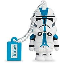 Tribe Disney Star Wars 501st Clonetrooper - Memoria USB 2.0 de 8 GB Pendrive Flash Drive de goma con llavero, multicolor