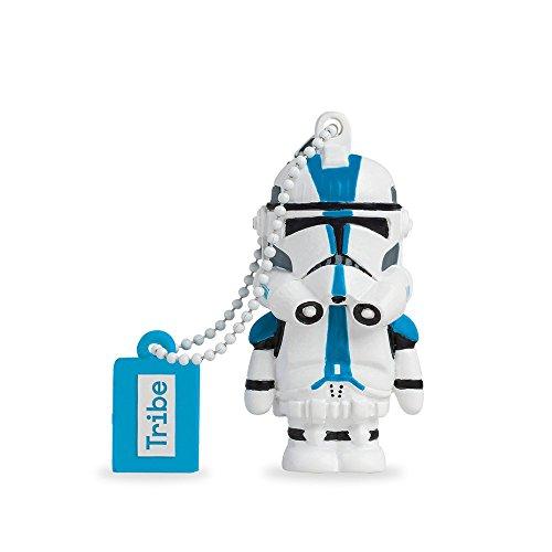 Tribe Disney Star Wars 501st Clonetrooper USB Stick 8GB Speicherstick 2.0 High Speed Pendrive Memory Stick Flash Drive, Lustige Geschenke 3D Figur, USB Gadget aus Hart-PVC mit Schlüsselanhänger – Mehrfarbig