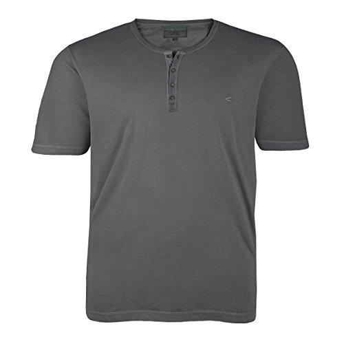Camel Active T-Shirt grau mit Knopfleiste Übergröße Grau