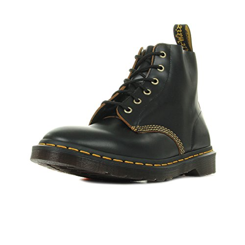 Dr.Martens Mens 101 Arc 6 Eyelet Black Leather Boots 43 EU
