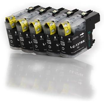 5 compatible XL Cartouches BROTHER LC-125 LC127 BK Noir avec puce pour Brother MFC J4110 J4410 J4510 J4610 J4710 DW
