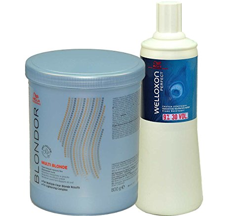 Wella Kit Blondor Lightening Powder 800 g + Welloxon 9% 1000 ml