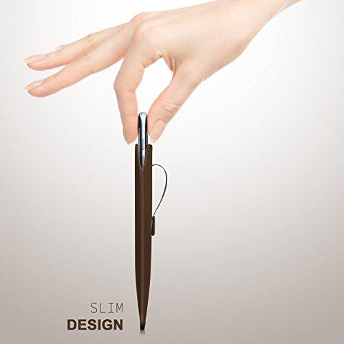 iPhone 5S Hülle Rot Sleeve [OneFlow Slide Cover] Ultra-Slim Schutzhülle Dünn Handyhülle für iPhone 5/5S/SE Case Full Body Handytasche Kunst-Leder Tasche OXIDE-BROWN