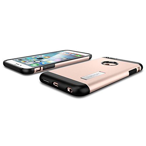 Custodia iPhone 6S Plus, Spigen Custodia iPhone 6 Plus [Slim Armor] Angoli Tecnologia a cuscino daria [Gunmetal] Slim Fit Dual Layer Kick-Stand Protezione Cover iPhone 6S Plus / 6 Plus (SGP11651) Rosa Dorato