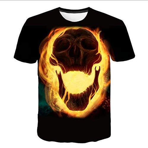 Herren Neuheit T-Shirt 2019 Sommer Casual Kurzarm 3D Digital Gedruckt T Shirt Tops Premium,3D minimalistischer Druck - 2 schwarz L -