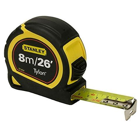 Stanley STA030656 Pocket Tylon Tape, 8 m/26 feet (25 mm)