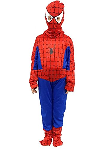 aske Cosplay Karneval Halloween-Spiel des Helden des Babys des Comicfigur der Film Charakter des Superhelden Spider-Man xl altura tg 130-140 rot (Film Charakter-masken)