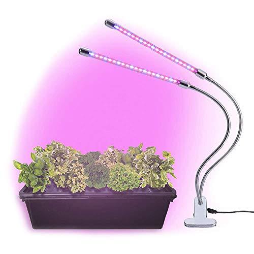 ZHEDAN LED Grow Lights, Flexible 360 °-Pflanze Anbaulampe mit Clip, Red/Blue Spectrum 9 Dimmable Levels für Indoor-Hydroponische Gewächshausschutz-Laufanlage