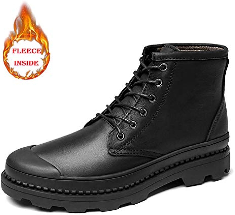 Shufang-scarpe Stivali da Lavoro alla Caviglia da Uomo, Casual semplici Unisex in Fleece Invernale Interno con... | Nuovo Stile  | Scolaro/Ragazze Scarpa