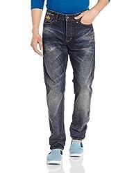 Superdry Mens Slim Fit Jeans (5054265625770_M70003JNF2_34W x 32L_Biker Used)