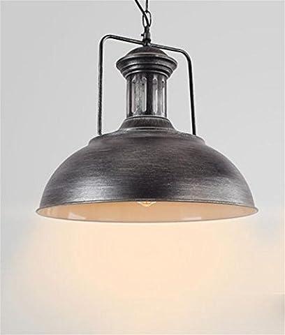 Xh&Yh LED American Retro Industrial Wind Chandelier Iron Pot Pendant