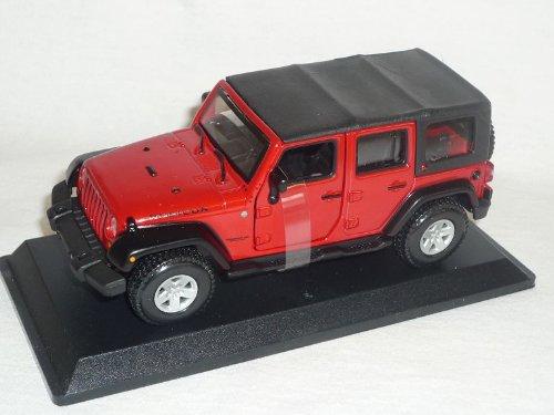 Bburago Jeep Wrangler Rubicon Rot 1/32 Burago Modellauto Modell Auto - Jeep Wrangler Rubicon Modell