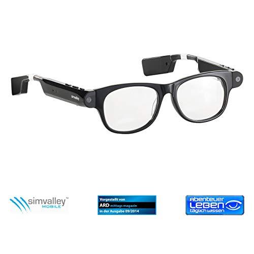 simvalley MOBILE Kamerabrillen: Smart Glasses SG-101.bt mit Bluetooth und 720p HD (Sonnenbrille Kamera)