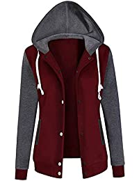 Women s Hoodies TUDUZ Womens Long Sleeve Baseball Jacket Hoodie Sweatshirt  Outdoors Sports Workout Gym Golf Causal 34a007a5091