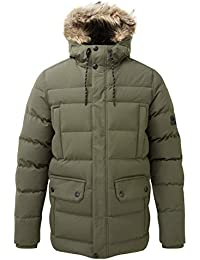 a8ae3f6efe0 Tog24 Arctic Mens Winter Warm Quilted Insulated Parka Jacket with Faux Fur  Hood