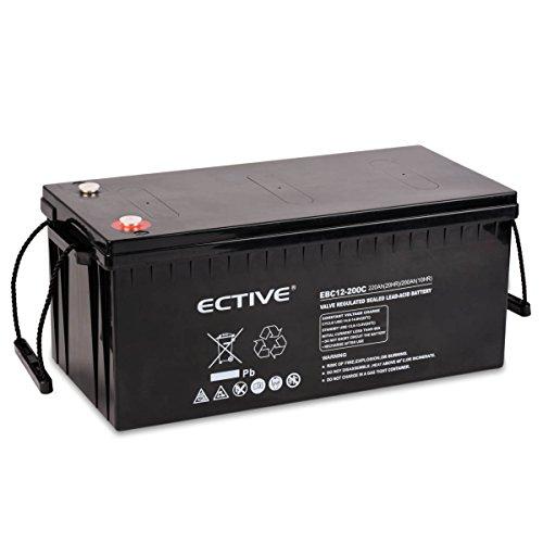 ECTIVE Bleiakku 12V 220Ah Zyklenfeste AGM Batterie Blei Akku EBC-Serie 13 Varianten: 25Ah - 280Ah (wartungsfrei)
