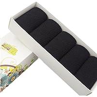 Black Temptation 5 Paar-Männer Socken Bambusfaser-weiche Anti-Schweiß Antibakterielle Rasterfeld-Fall-Winter-Socken Annehmbares Geschenk-A06