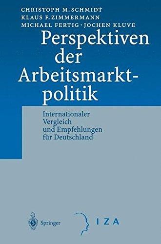 Perspektiven der Arbeitsmarktpolitik: Internationaler Vergleich und Empfehlungen f??r Deutschland by C.M. Schmidt (2001-06-22)