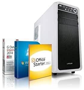 Super Silent Multimedia + Gaming Quad Core PC AMD A8-5600K 4x 3,8 GHz, Windows 7 Pro 64, 8GB RAM, 1TB HDD, USB3.0+USB2.0,Radeon HD 7560 4GB, GDATA Internet Security 2014, 3 Jahre Garantie!#4567
