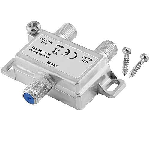 Digital Sat Vorrang-Schalter Vorrang-Umschalter Verteiler für Satelliten-Anlagen/IN: 1 LNB-Anschluss Out: 2 Receiver-Anschlüsse/geeignet für 3D SD HD FullHD UHD 4K / Metallausführung