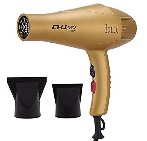 CHJPro 9900 ThermoProtect Haartrockner Haarfön Professionelle Friseur Haartrockner Föhn Haartrockner mit 2300 Watt Kombiniert mit Lonentechnologie und Heißluft Blasen plus 2 Diffusoren