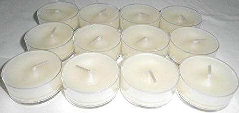 1a PartyLite 12 Teelichter EISFRÜCHTE Weihnachtsduft v04123 --- weiß (Herz Glas Teelicht)