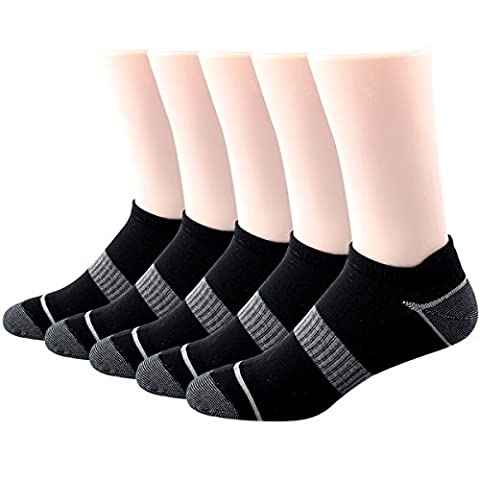 RioRiva Men Trainer Low Cut Liner Ankle athletic Socks Black