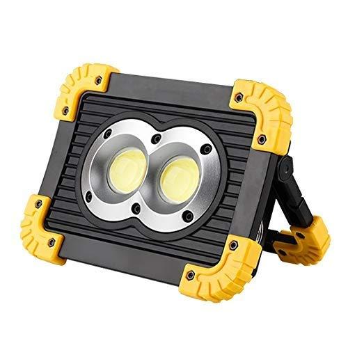 Skingk LED 10W Handscheinwerfer Leistungsstarkes LED Weißlicht Arbeitslampe Wiederaufladbares Licht Wasserdicht for Outdoor Camping Arbeit 18650 Batterie (Color : B)