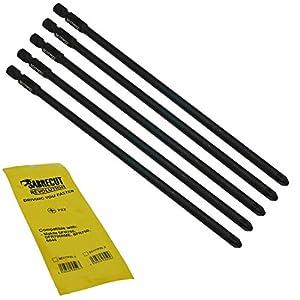 SabreCut SC177PZ2_3 – Juego de 5 destornilladores de pared seca de punta plana para Makita DFR750 DFR750RME BFR750 6844 P-67789 (177 mm, PZ2)
